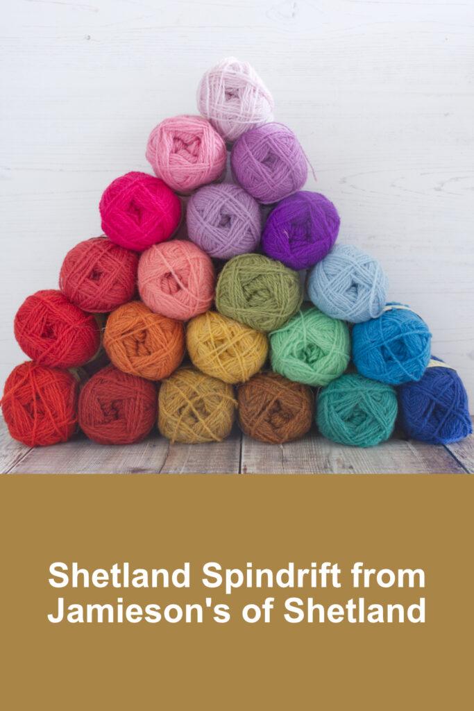 Pyramid of Shetland Spindrift yarn