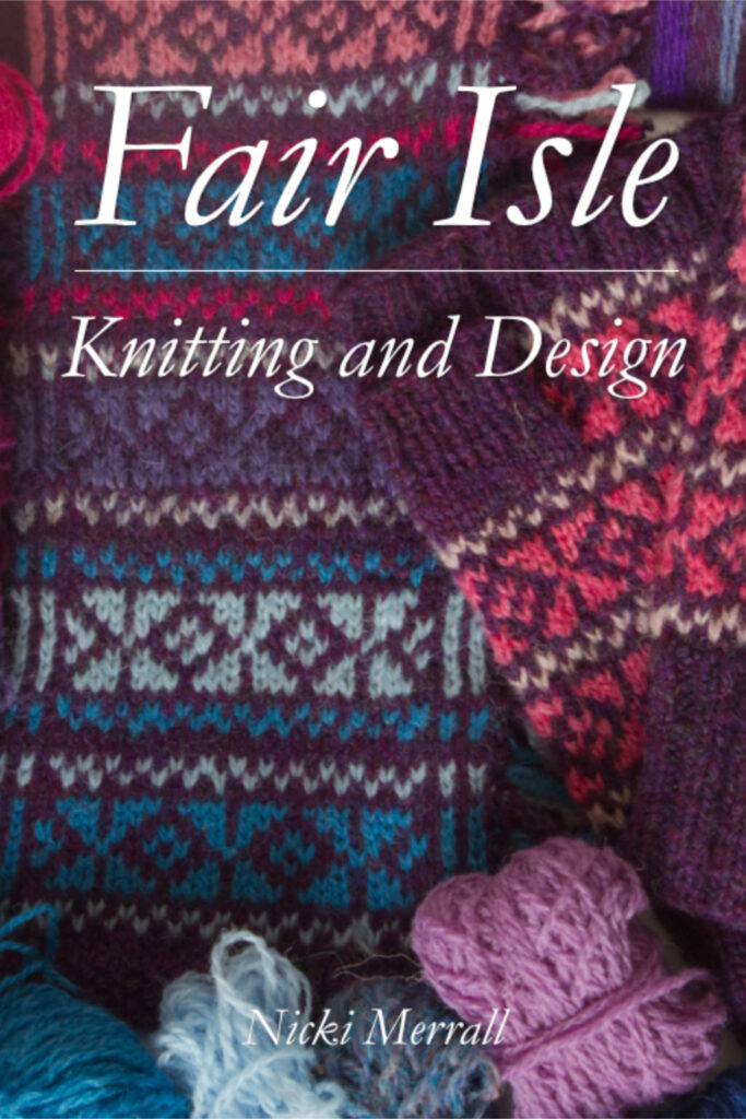 Detail of cover of Fair Isle Knitting and Design by Nicki Merrall