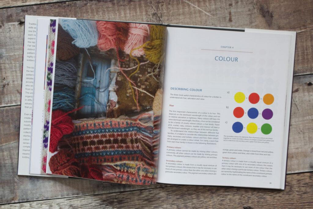 First two pages of Chapter 4 from Fair Isle Knitting and Design about colour
