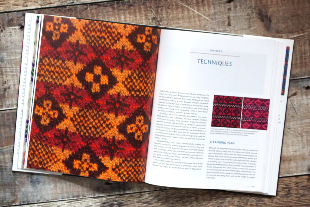 First two pages of Chapter 5 from Fair Isle Knitting and Design about techniques used in Fair Isle knitting