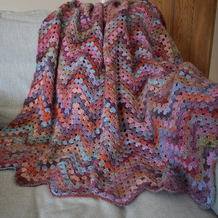 Chevron crochet blanket from Knit One Kits