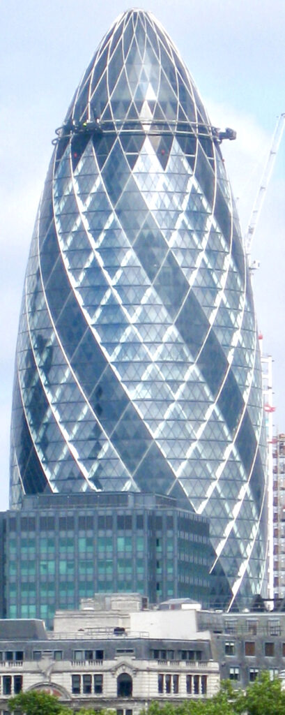 Diamond windowpanes in Gherkin building