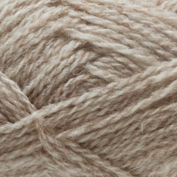 Close-up of a ball of Shetland Spindrift yarn in 0105 Eesit.