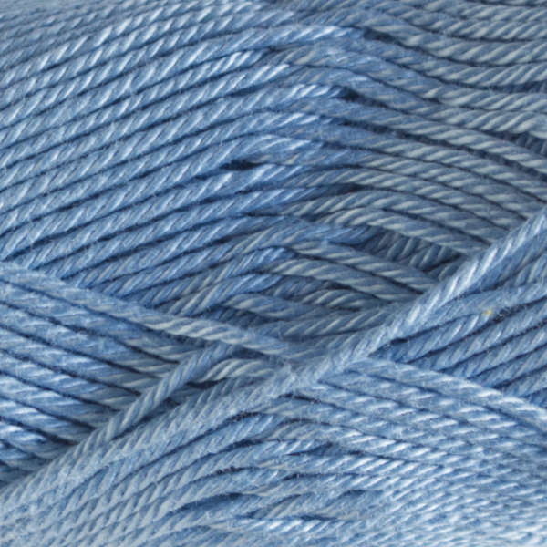 Close up of Quattro cotton yarn in shade 020 Pale blue.