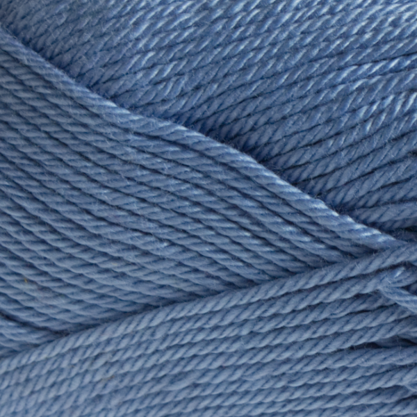 Close up of Quattro cotton yarn in shade 021 Sky Blue.