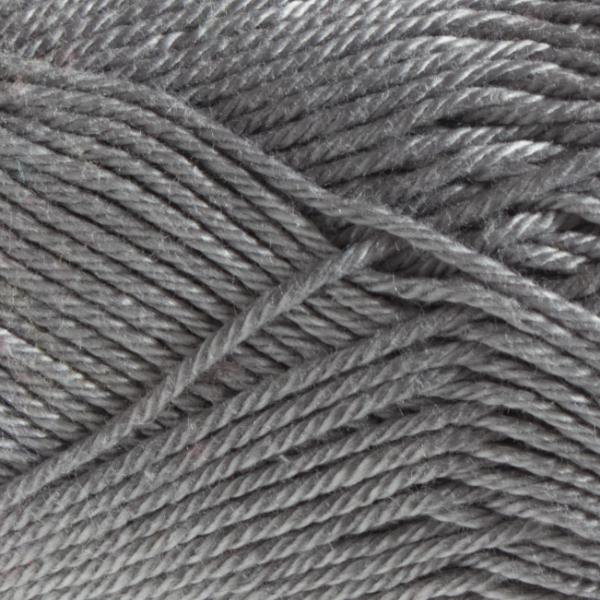 Close up of Quattro cotton yarn in shade 023 Grey.