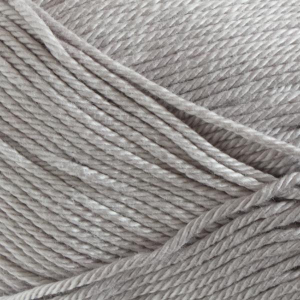 Close up of Quattro cotton yarn in shade 024 Light Grey.