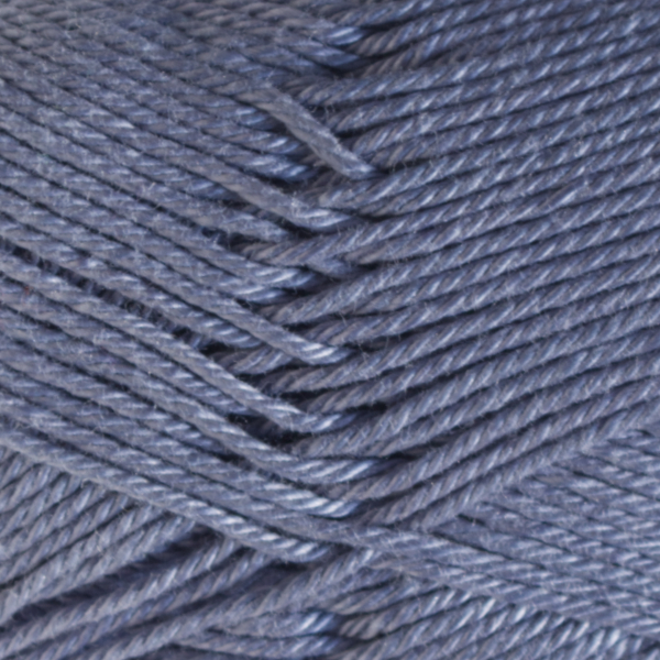 Close up of Quattro cotton yarn in shade 033 Smoky Blue.