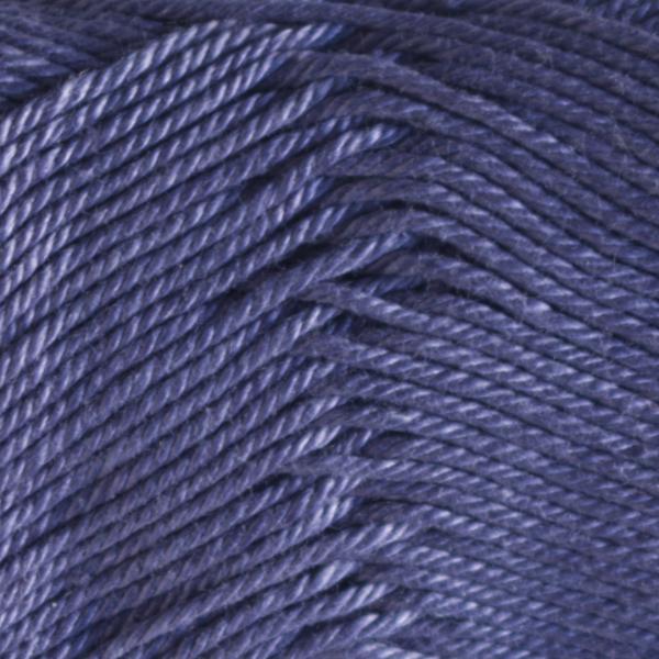 Close up of Quattro cotton yarn in shade 034 Denim Blue.