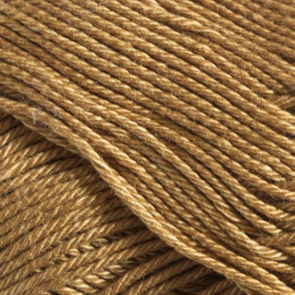 Close up of Quattro cotton yarn in shade 039 Kharki.
