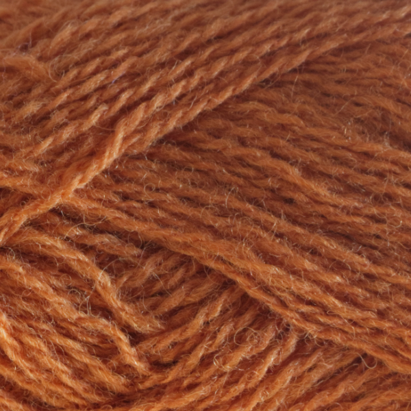 Close-up of a ball of Shetland Spindrift yarn in 0478 Amber.