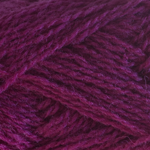 Close-up of a ball of Shetland Spindrift yarn in 0517 Mantilla.