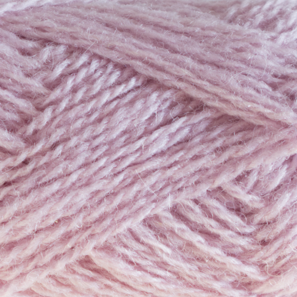 Close-up of a ball of Shetland Spindrift yarn in 0547 Orchid.
