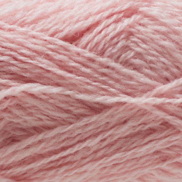 Close-up of a ball of Shetland Spindrift yarn in 0550 Rose.