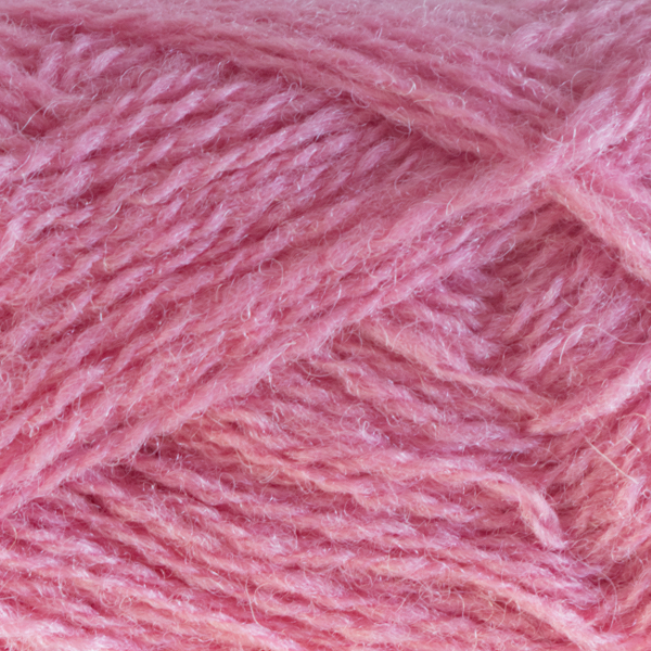 Close-up of a ball of Shetland Spindrift yarn in 0570 Sorbet.
