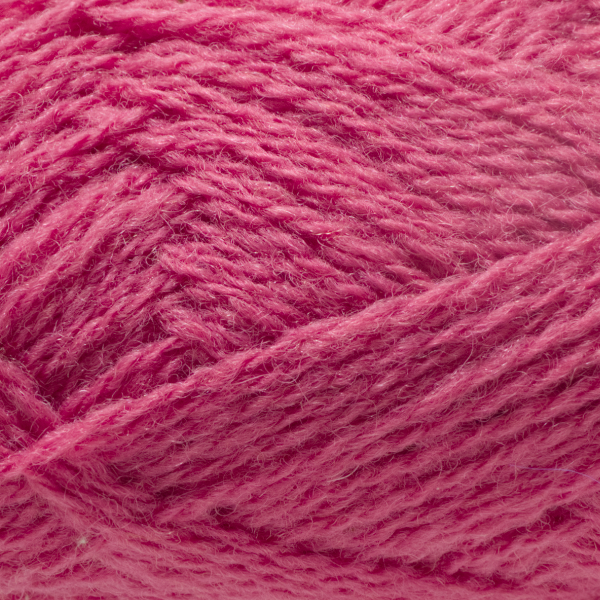 Close-up of a ball of Shetland Spindrift yarn in 0575 Lipstick.
