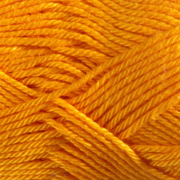 Close up of Quattro cotton yarn in shade 059 Orange.