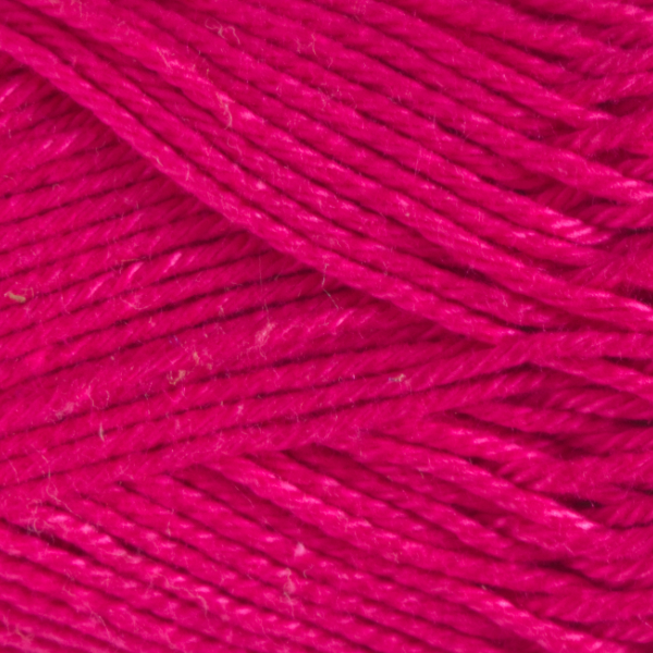 Close up of Quattro cotton yarn in shade 064 Deep Pink.