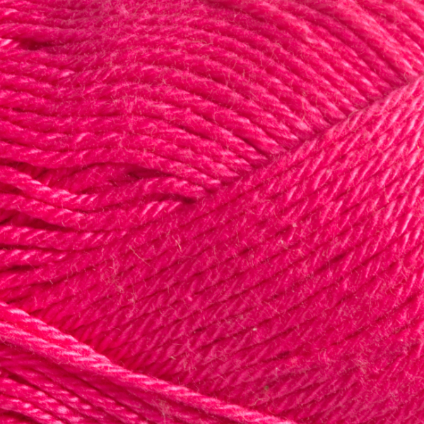 Close up of Quattro cotton yarn in shade 065 Fuchsia.