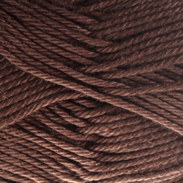Close up of Quattro cotton yarn in shade 068 Brown.