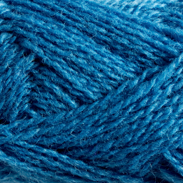Close-up of a ball of Shetland Spindrift yarn in 0680 Lunar.