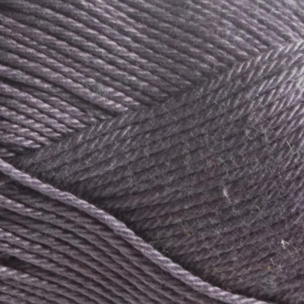 Close up of Quattro cotton yarn in shade 070 Dark Grey.