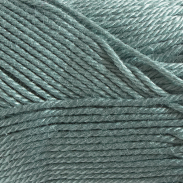 Close up of Quattro cotton yarn in shade 072 Duck Egg.