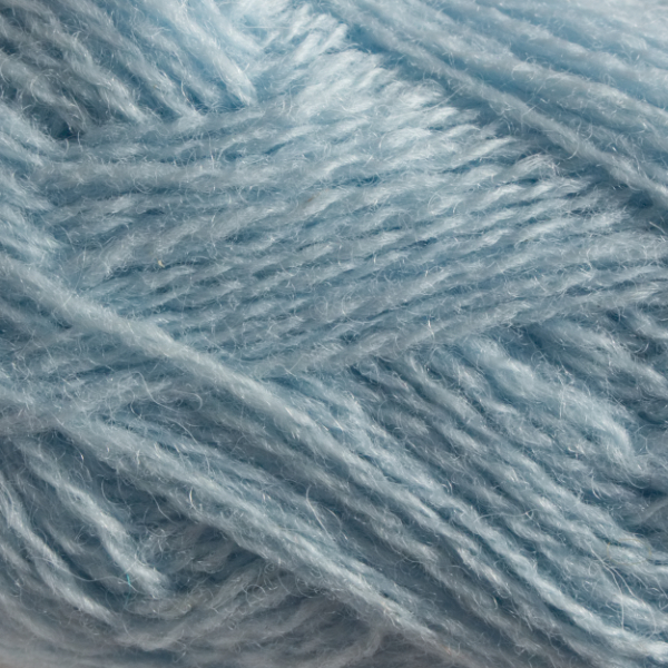 Close-up of a ball of Shetland Spindrift yarn in 0764 Cloud.