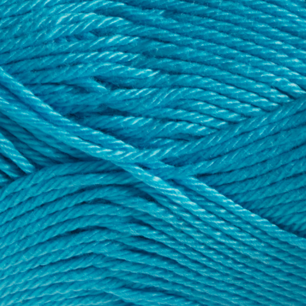 Close up of Quattro cotton yarn in shade 079 Turquoise.