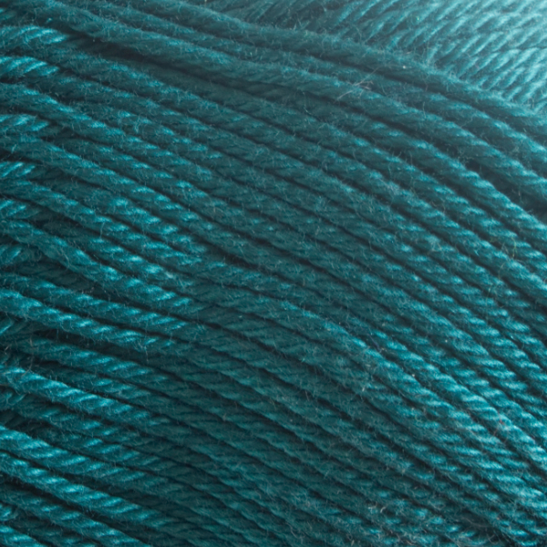 Close up of Quattro cotton yarn in shade 088 Petol.