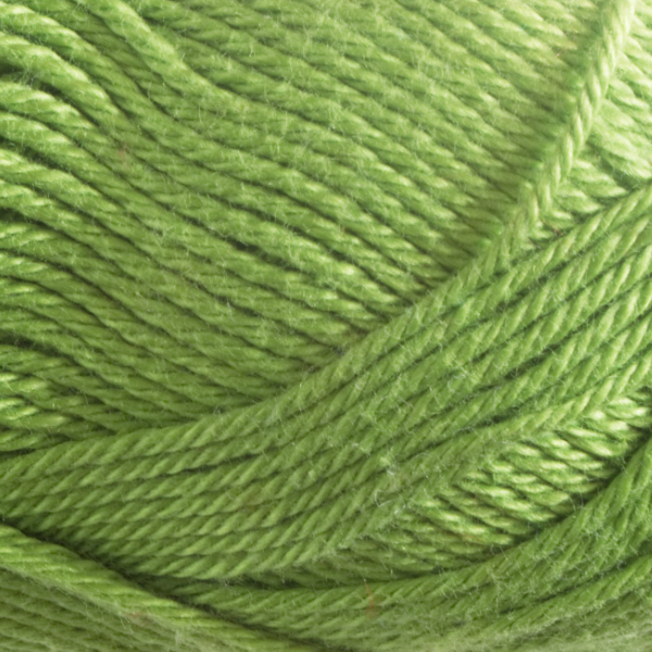 Close up of Quattro cotton yarn in shade 116 Spring Green.
