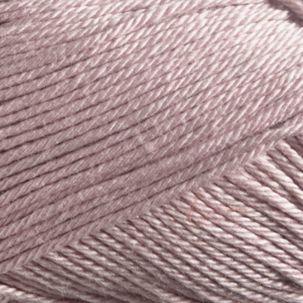 Close up of Quattro cotton yarn in shade 148 Pale Rose.