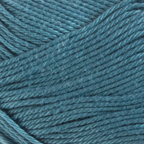 Close up of Quattro cotton yarn in shade 188 Teal.