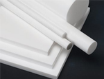PTFE (polytetrefluoroethylene) is a low friction engineering plastic with outstanding chemical, high temp, and weathering resistance.