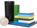 PVC (polyvinyl chloride) is a strong, stiff, low cost plastic material that is easy to fabricate and easy to bond using adhesives or solvents.