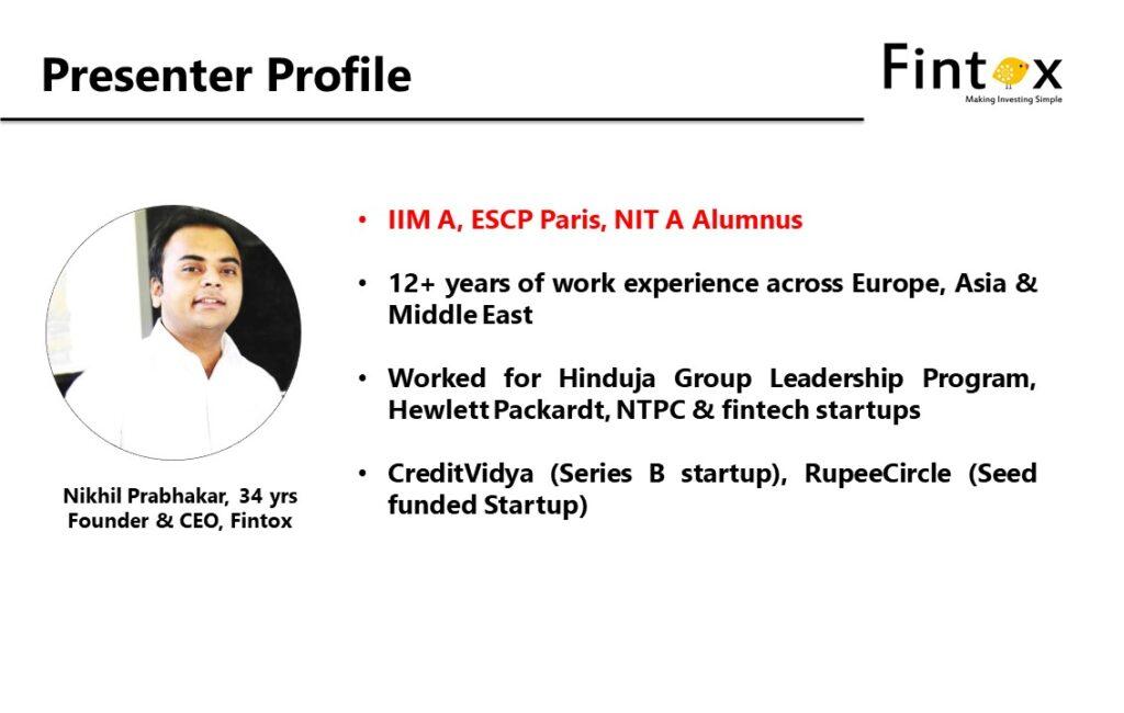 Presenter - Nikhil Prabhakar for Workshop