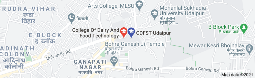 Map of cdfst udaipur