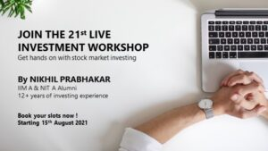 Fintox 21st Investment Workshop from 15th Aug