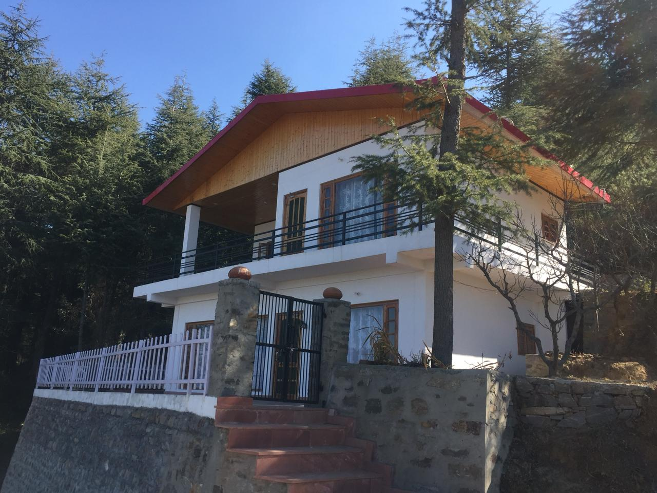 3 Bhk Cottage for sale at Rajgarh Himachal — Drive in — Plot area – 275 Sqy —- Covered Area – 2100 Sq—- Beautiful View — Price – 72 Lakhs.