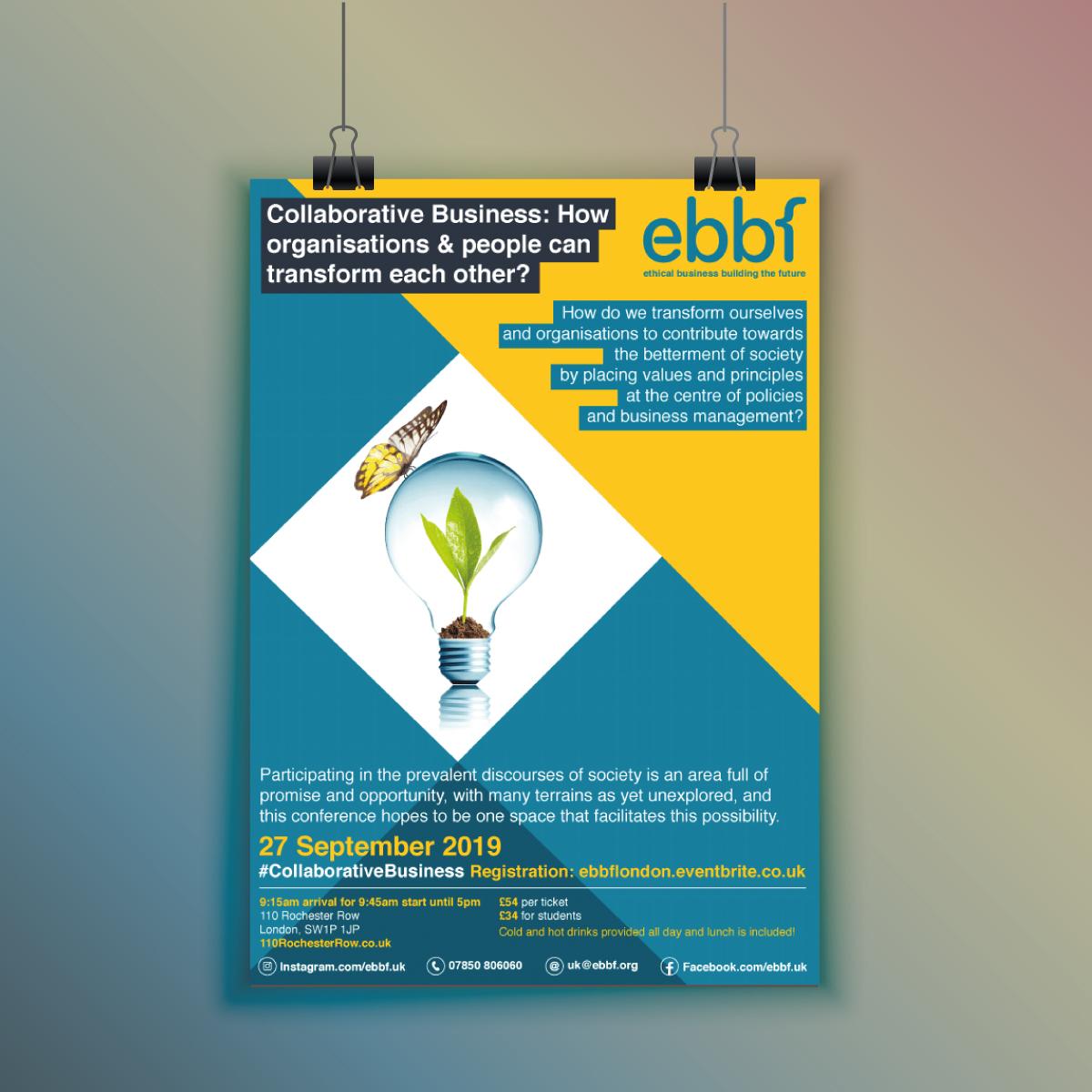Ebbf poster design by Viviane Williams Consultancy