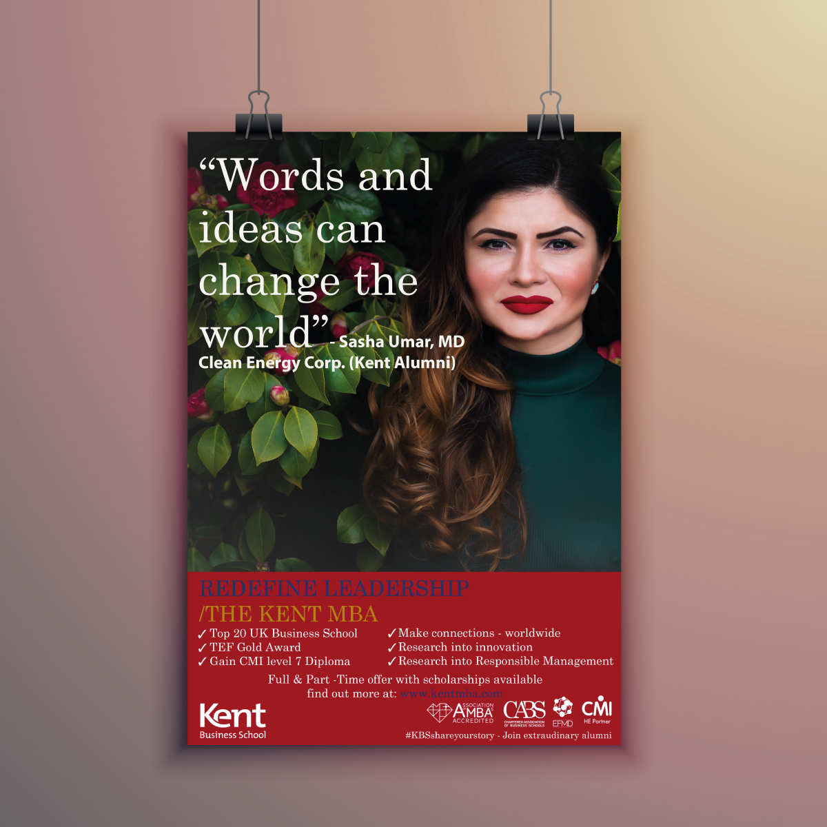 Kent Business School MBA poster ad campaign by Viviane Williams Consultancy