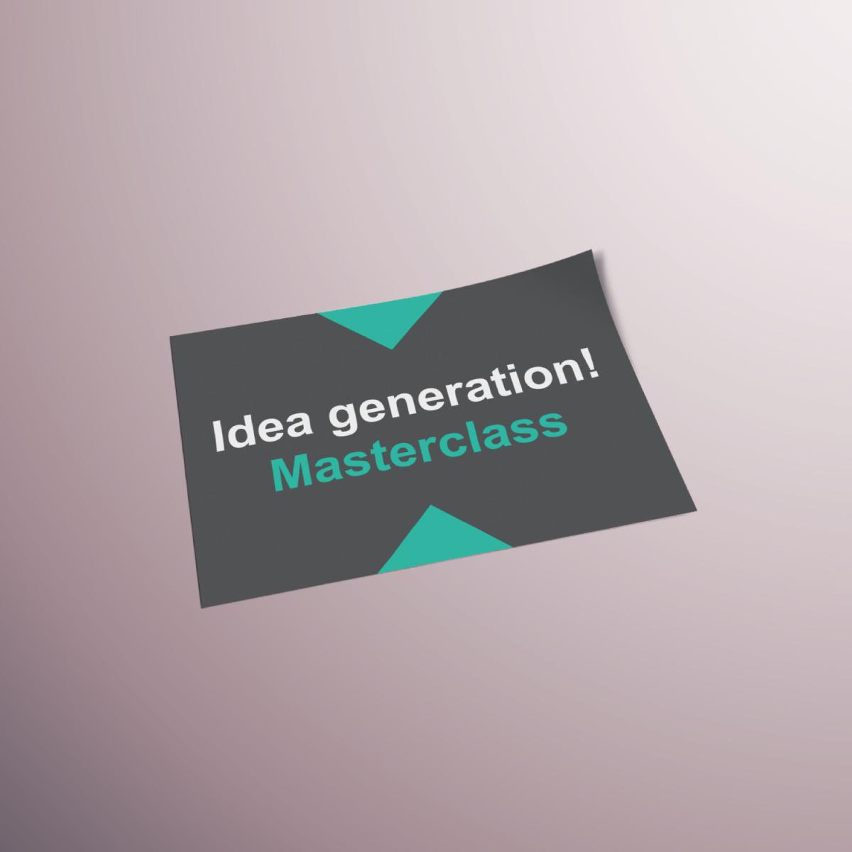 Uca idea generation masterclass by viviane williams