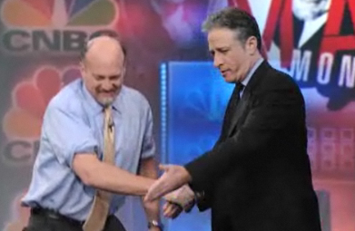 Jon Stewart shows Jim Cramer his place