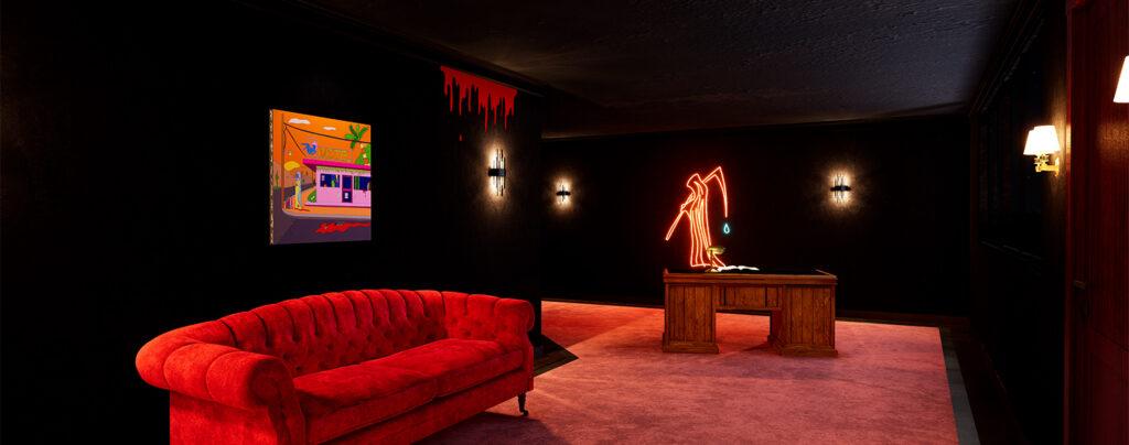 Virtual reality gallery spooky motel