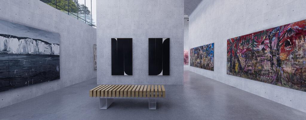 Vigo virtual gallery, concrete walls gallery