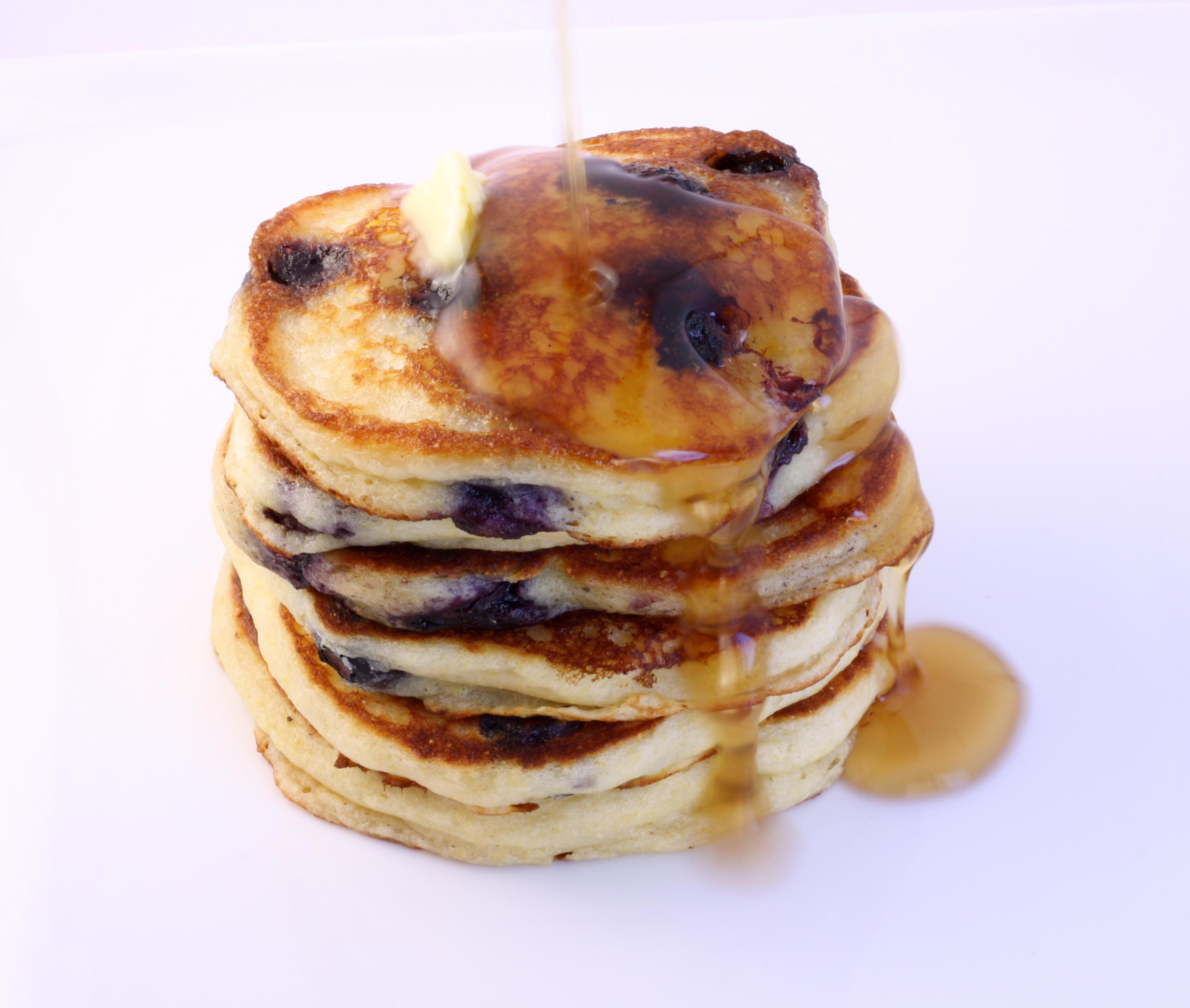 Blueberry Buttermilk Gluten Free Pancakes