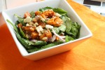 Sweet Potato Feta Spinach Salad