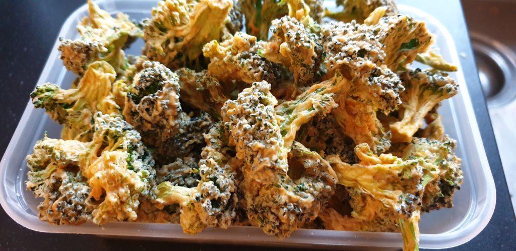 Cheesy Dehydrated Broccoli