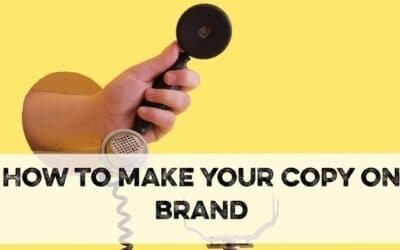 How to make your copy on-brand