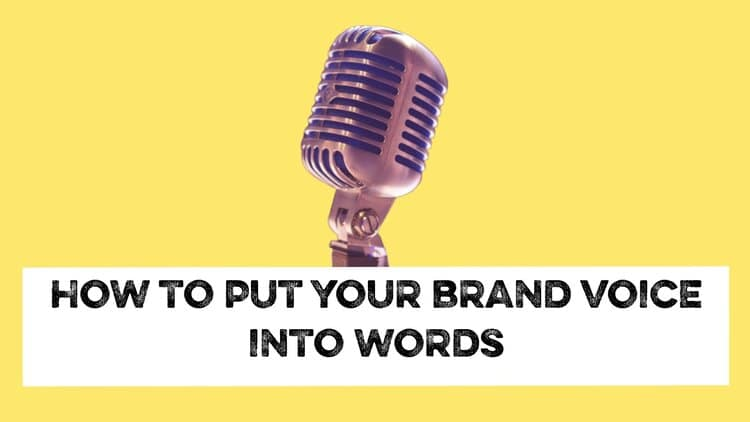 brand voice into words